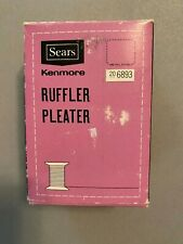Vintage SEARS KENMORE Ruffler Pleater Model #20 6893 Original Box
