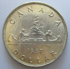 CANADA 1937 KING GEORGE VI SILVER VOYAGEUR UNCIRCULATED DOLLAR COIN - A