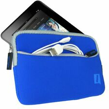 iGadgitz Blue Neoprene Sleeve Case Cover w/ Front Pocket for Amazon Kindle Fire