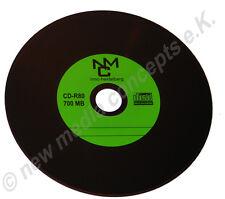 Vinyl CD Rohlinge Grün Carbon 50 in Cake 700 MB zum archivieren, Dye schwarz