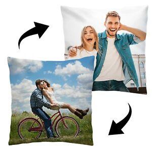 Personalisiertes Foto-Kissen Doppelseitig mit eigenem Foto Bedruckt 45 x 45 cm