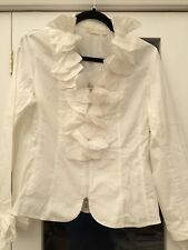 LEX-I-CON cotton ZIp Top white with Bows size 14 (M) New