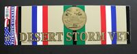 Desert Storm Vet USA Bumper Sticker made in the USA 9 x 3.25 inches