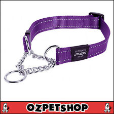 Rogz Utility Medium 5/8-inch Reflective Snake Obedience Half-check Dog Collar P