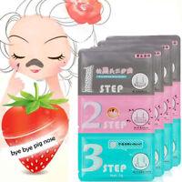 Men Women 3Step Blackhead Remover Nose Face Mask Acne Remover Kit Beauty Clean
