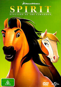 Spirit - Stallion of the Cimarron -Rare DVD Aus Stock Animated New Region 4