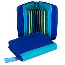 Mywalit en cuir concertina style carte de crédit titulaire boîte paysage marin bleu
