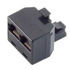 RJ45 Y-Verteiler Splitter Netzwerk Ethernet Patch Kupplung ISDN Adapter 1M/2F