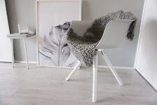 Genuine Swedish Gotland Sheepskin Rug - Curly Silver Grey Ash Wool - SG 181