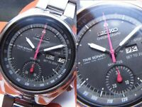 Seiko Time Sonar Overhaul Minute Recorder Automatic Authentic Mens Watch Works