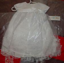 New Baby Girls Christening Baptism Wedding Dress Flower Girl Gown White 12m
