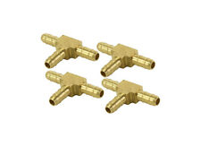"""4 Pack Brass Barbed Push on Type Union Tee's for 1/4"""" OD Airline,Gauges,Valves"""