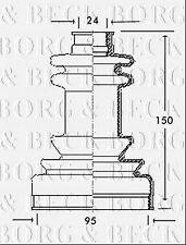 BCB2038 BORG & BECK CV JOINT BOOT KIT fits Citroen,Fiat,Talbot - Outer