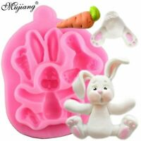 3D Easter Bunny Mold Rabbit Silicone Mould Cake Decorating Tool Baking Candy TOP