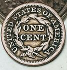 1849 Large Cent Matron Braided Hair 1C Ungraded Good Date US Copper Coin CC9419