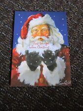 Christmas Card Susan Comish Santa Twas the Night Unused Free Ship