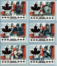 2003/04 McDONALDS ATOMIC CANADIAN PRIDE COMPLETE INSERT SET OF 6