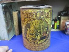 SWEET MIST CHEWING TOBACCO TIN CAN STORE COUNTER BIN SCOTTEN DILLON & CO VINTAGE