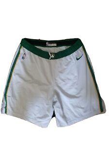Guerschon Yabusele Celtics Nike White NBA Authentic Game Worn Shorts Size 46
