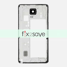 New Black Mid Middle Frame Bezel Housing For Samsung Galaxy Note 4 N910A N910T
