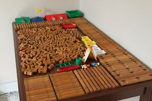 Lincoln Logs HUGE Lot 400 Pieces Roofs People Windows TONS of Different Pieces