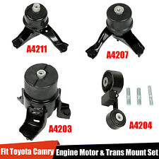 4PCS Engine Motor&Trans Mount Set Fit 2002-2009 Toyota Camry 2.4L For Auto Trans