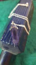 Versilberte Echtschmuck-Halsketten & -Anhänger mit Amethyst