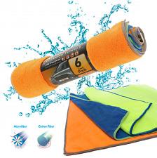 Pack of 6 Microfiber Cleaning Cloth Rag Car Polishing Detailing Towels 12 x 16