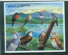 Super Briefmarken-Block aus Uganda: Birds of Uganda, postfrisch