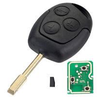 3 Tasten Fernbedienung Schlüssel Hülle 433MHZ 4D60 Chip Für Ford Mondeo, Fiesta