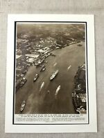 1954 Print The Royal Yacht Britannia River Thames London Vintage Memorabilia