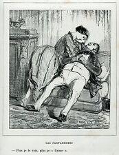 Gavarni: Masques et Visages. 47. Les Partartaugeuses, 3. Caricatura. Satira.1857