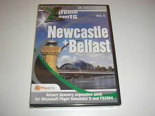 Xtreme Airports NEWCASTLE + BELFAST Pc Add-On Flight Simulator X 2004 FSX NEW