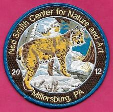 """Pa Pennsylvania Fish Game Commission NEW 4"""" 2012 Ned Smith Bobcat Wildlife Patch"""