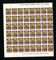 Australia Stamps 1950 TB Sheet of 100