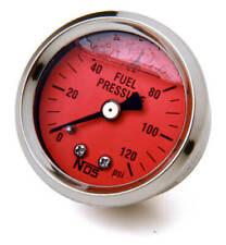 """Nos 15907Nos Fuel Pressure Gauge Glycerin-Filled - 1-1/2"""" - 0-120 Psi"""