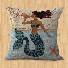 US SELLER- pillow cushion covers for sofa mermaid cushion cover