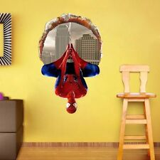 Super Hero Spider-man Mural Art Vinyl Wall Decal Sticker Kids Nursery Room Decor