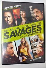 Video DVD - Savages - Unrated Version WS Travolta Hayek LIKE NEW (LN) WORLDWIDE