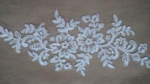White tule Lace/Ribbon/Trim Applique 10pcs Wedding Dress decoration decor floral