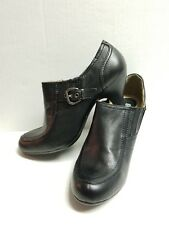 White Mountain Womens Black Slip On Bootie Shoes/Heels Sz 10M NWOT