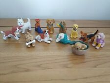 More details for 12 vintage dog lot, plastic play dogs, small animal set, dog toys, dogs set