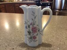 HAVILAND Limoges china PINK & BLUE Flowers/Floral pattern Creamer Pitcher/Jug