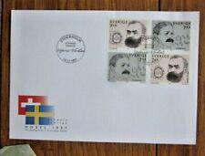 Sweden Nobel Prize Winners 1997 4 Stamp Set Fdc Czesla Slania Engraved Set