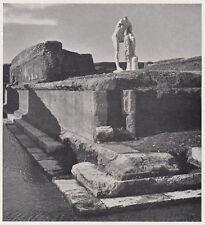 D3757 Ostia - Tempio di Ercole - Stampa d'epoca - 1939 vintage print