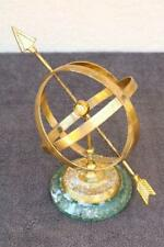 Sundial Brass with Arrow Novelty on Stone Indoor Felt Desk Astronomy Estate Kz