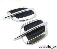Pair 2x Car Side Air Vent Fender Sticker Cover  Hole Intake Duct Flow