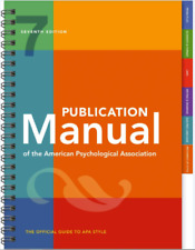 Publication Manual American Psychological Association: 7TH SPIRAL Ed. BRAND NEW