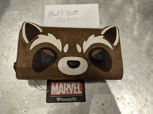 Disney Marvel Guardians Of The Galaxy Rocket Raccoon Loungefly Wallet Brand New