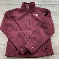 *The North Face Womens Fleece Jacket Full Zip Deep Garnet Red Extra Small